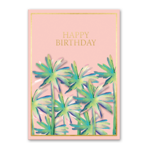 Pink Palms Birthday greeting card Product
