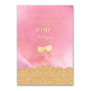 life happens, wine helps greeting card Product