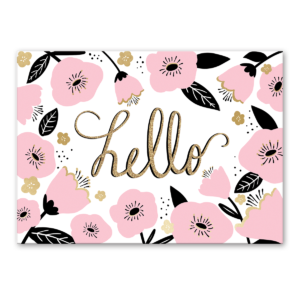 floral hello greeting card Product