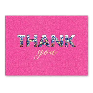 Pink Shaker Thank You greeting card Product