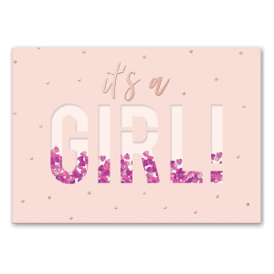 It's a Girl Shaker Greeting Card Product