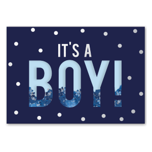 It's a Boy Shaker Greeting Card Product