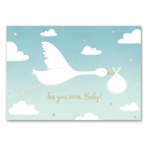 Baby Stork Greeting Card Product