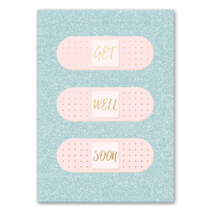 Get Well Soon Band Aids Greeting Card Product