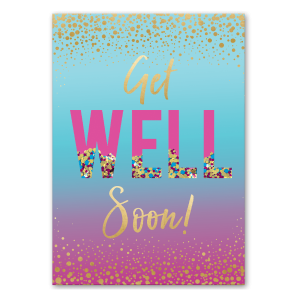 Get Well Soon Shaker Greeting Card Product