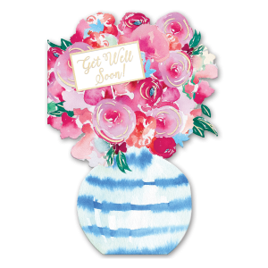 Get Well Soon Flowers Greeting Card Product