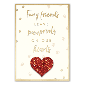 Pawprints on Our Hearts Greeting Card Product