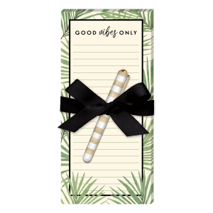 Palm Leaves Magnetic List Pad with Pen Product
