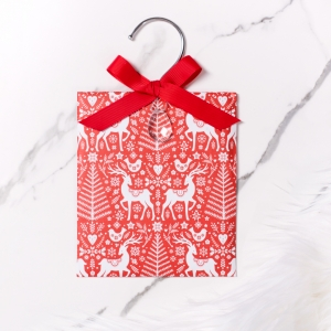 merry & bright forest votive candle