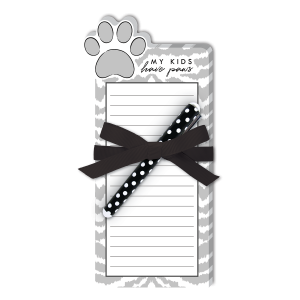 Kids Paws Die-Cut Notepad Product