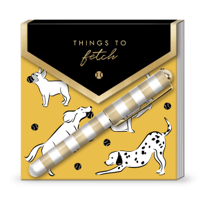 Fetching Dogs Matchbook Notepad Product
