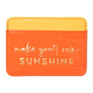 Make Sunshine Faux Leather Credit Card Wallet Product