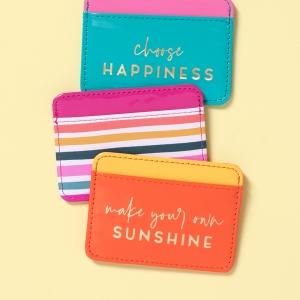 Sunlit Garden Faux Leather Credit Card Wallet