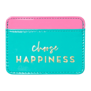 Choose Happiness Faux Leather Credit Card Wallet Product