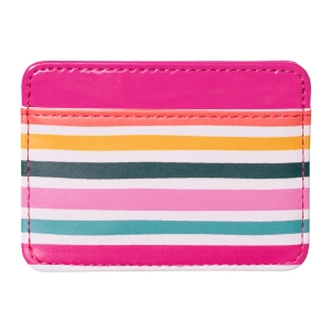 Sketched Stripes Faux Leather Credit Card Wallet Product