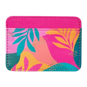 Sunlit Leaves Faux Leather Credit Card Wallet Product