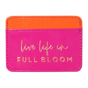 Full Bloom Faux Leather Credit Card Wallet Product